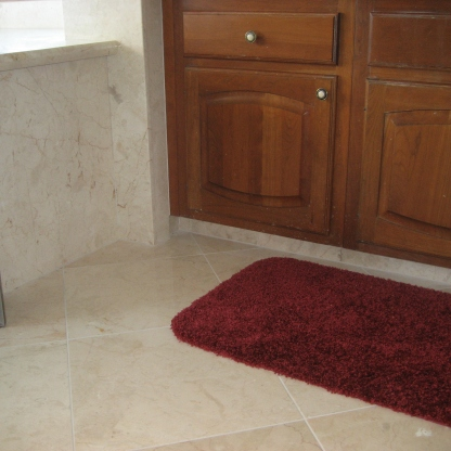 Master Bath floor with Crema Nova Marble
