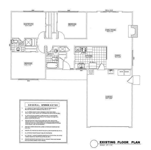 Existing Floor Plan
